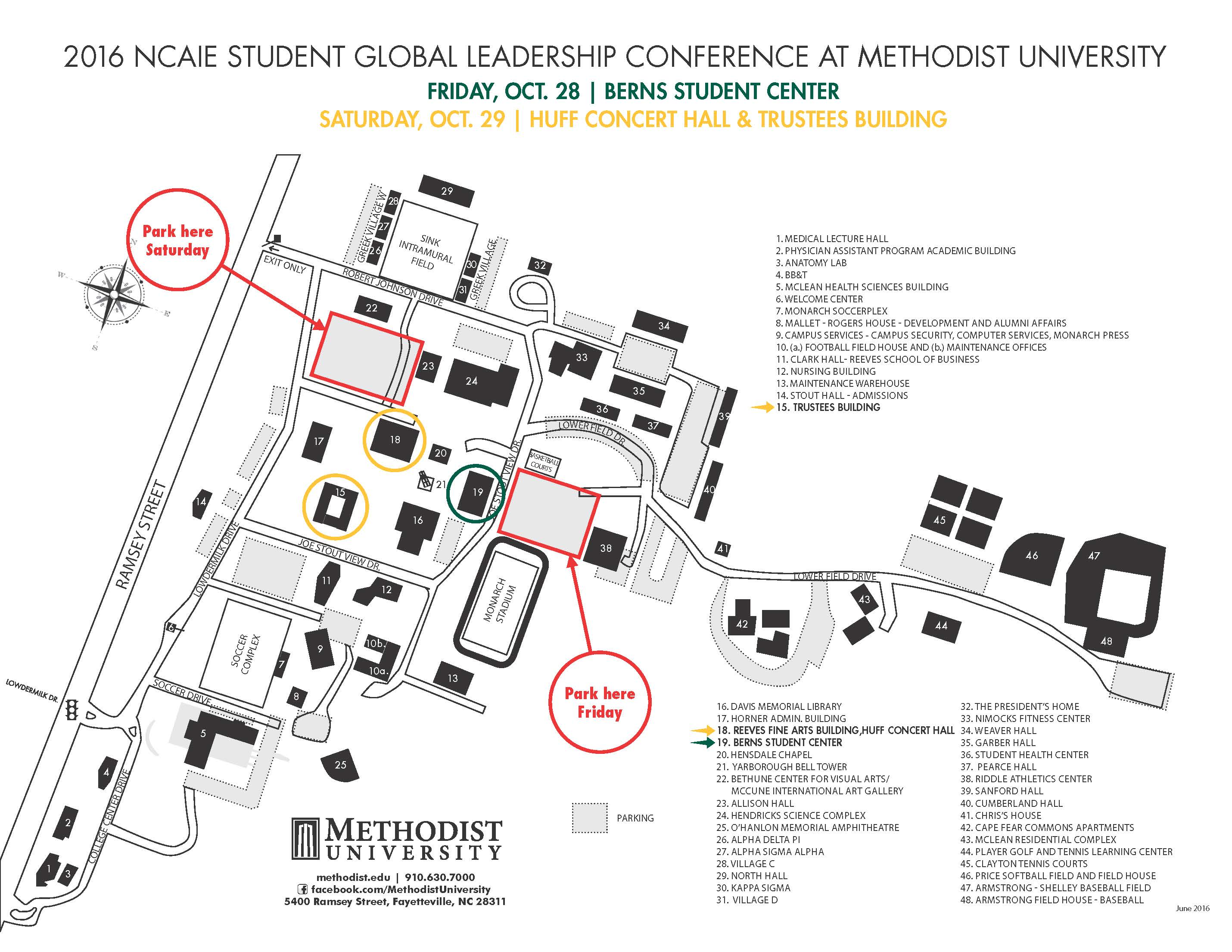 MU Campus Map_NCAIE conference_9-29-2016 (1)
